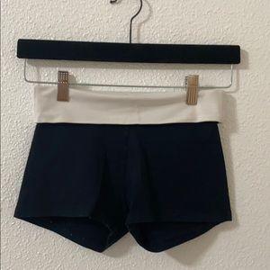 Black yoga/pajama shorts